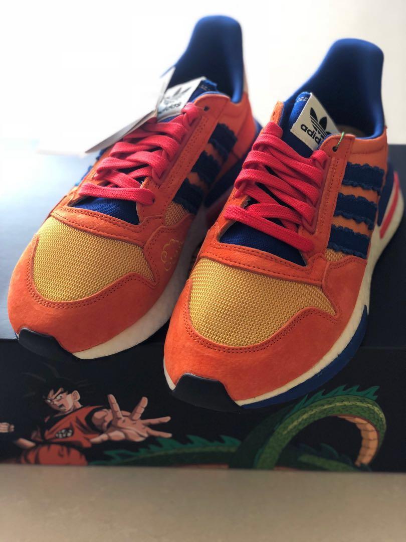 official photos f0beb 8fd50 Adidas X Dragon Ball Son Goku, Fesyen Lelaki, Kasut Lelaki, Sneakers di  Carousell