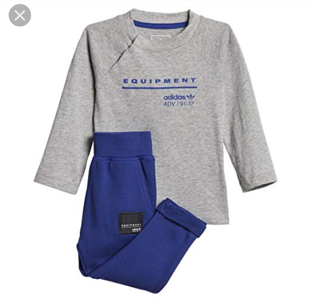 uk availability 1baa2 209f4 Authentic Adidas Infant Originals EQT Shirt and Pants Set