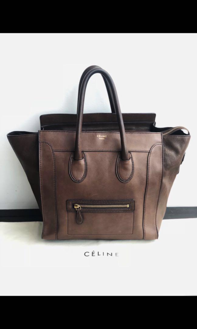 ef4945b76b96 Authentic Celine Mini Luggage Brown