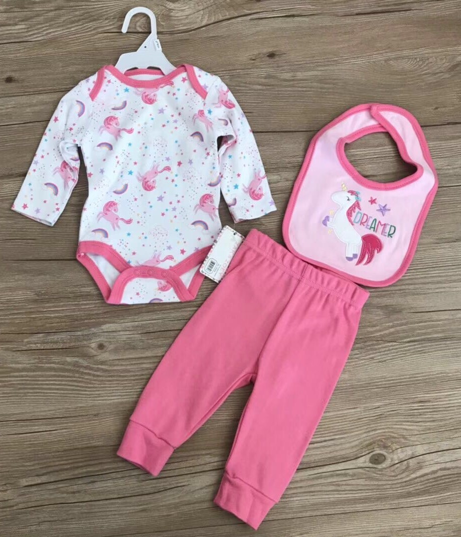 5ad927b7d9fb Baby Girl Set Romper Unicorn design