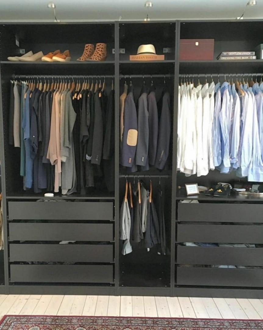 BN IKEA Pax Wardrobe Frame Black Brown, Furniture, Shelves