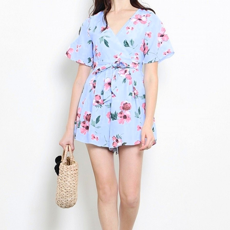 ba5aedfc53b BN  🌸SHOPSASSYDREAM Anna Playsuit Mint Floral - XS