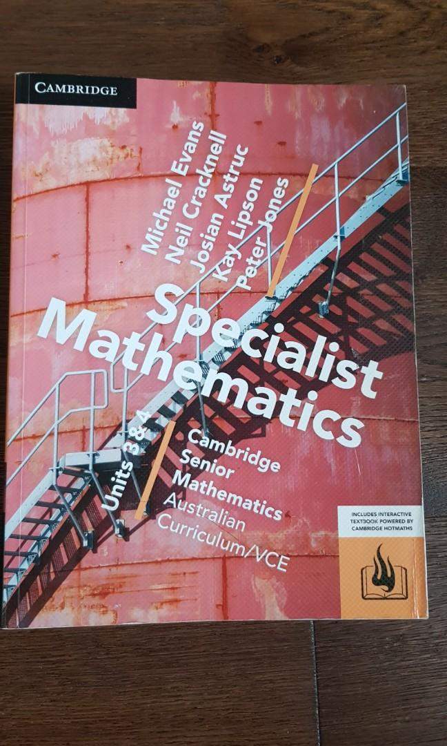 Cambridge Specialist Math Textbook VCE Year 12 Unit 3&4