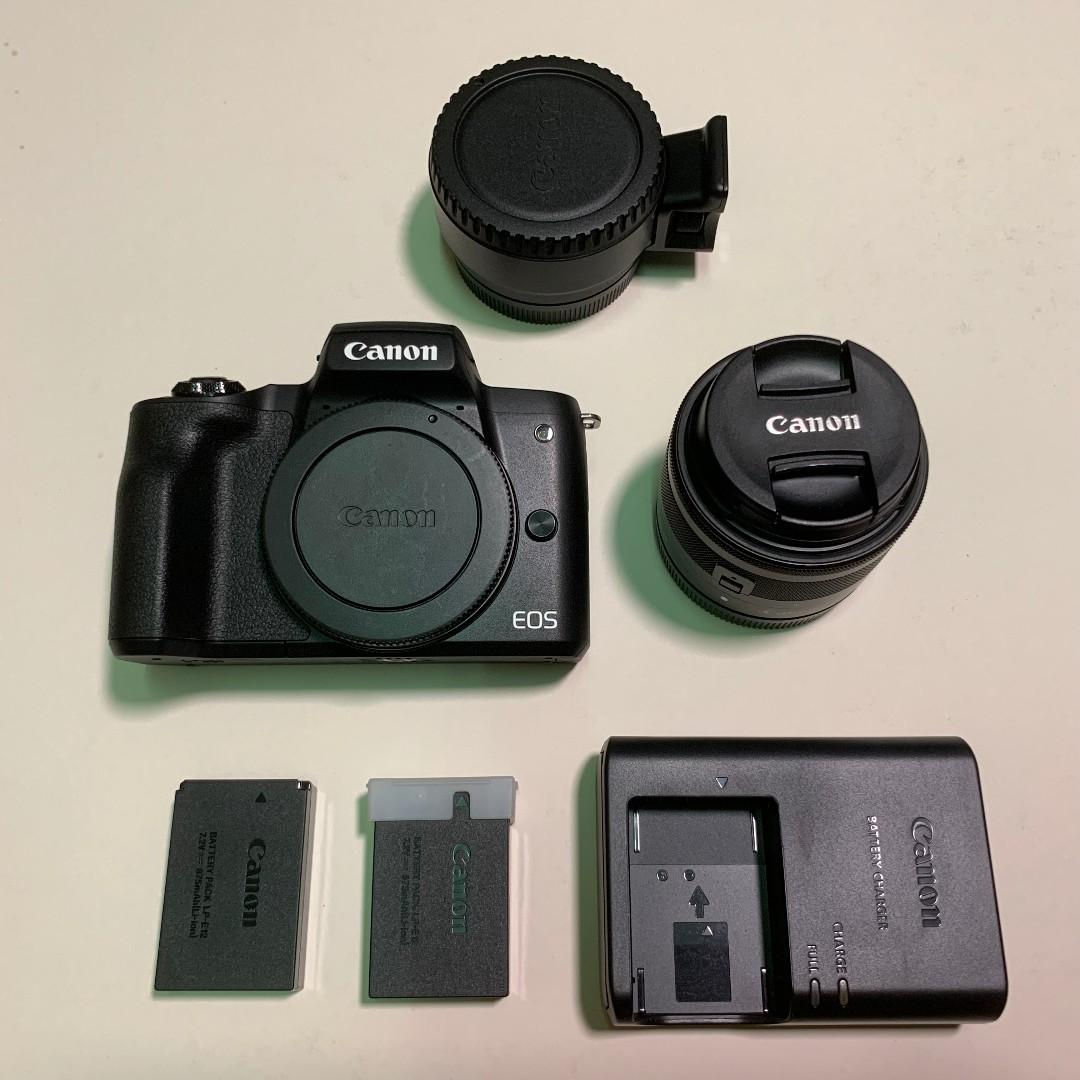 Canon EOS M50 Kit EF-M15-45 IS STM with M-mount adapter