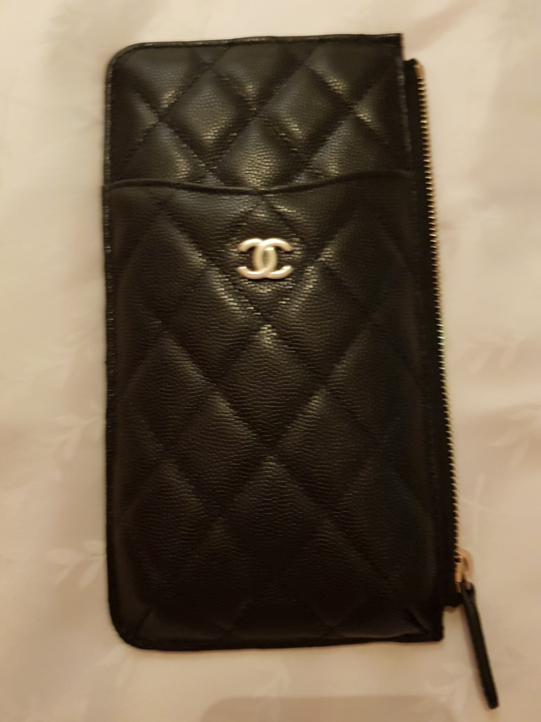 8301baf19a94 Chanel Phone Pouch, Luxury, Bags & Wallets, Wallets on Carousell