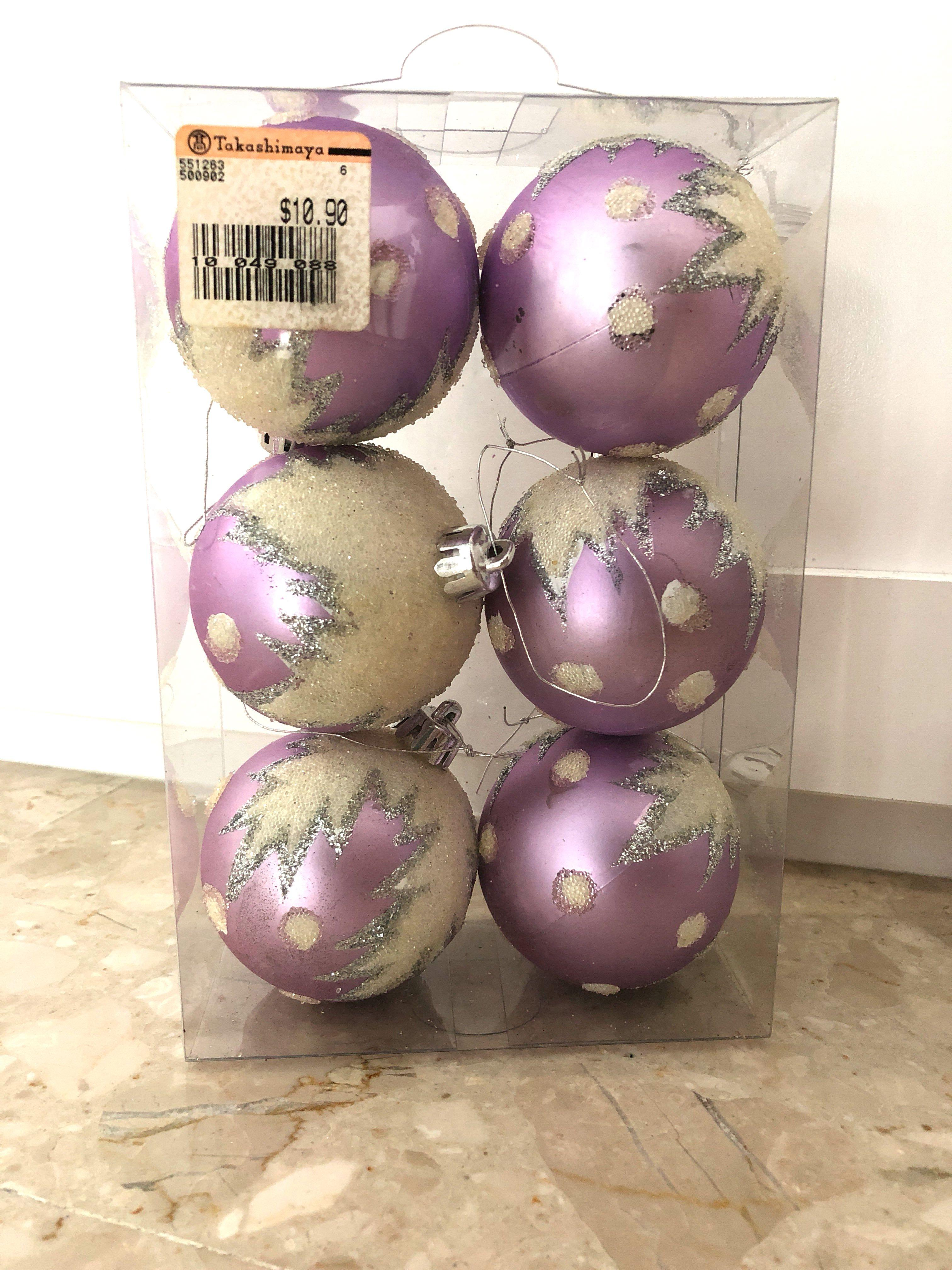 Christmas Purple Balls