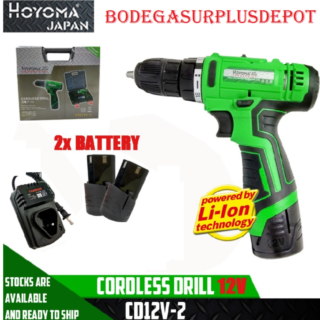 Cordless Drill 12volt With 2battery Sale Sale Home Furniture Furniture Fixtures Others On Carousell