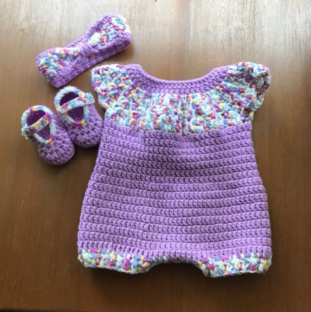 Crochet Baby Romper Set Babies Kids Babies Apparel On Carousell