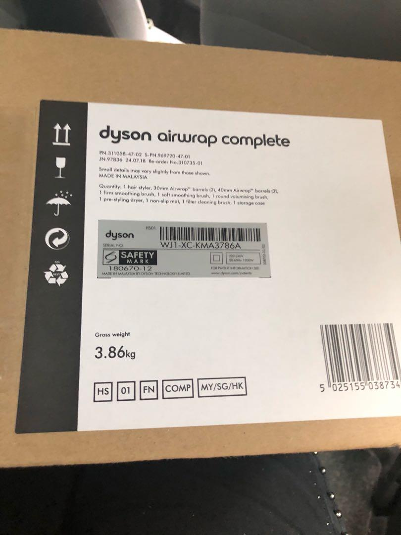 Dyson airwrap full set unopened
