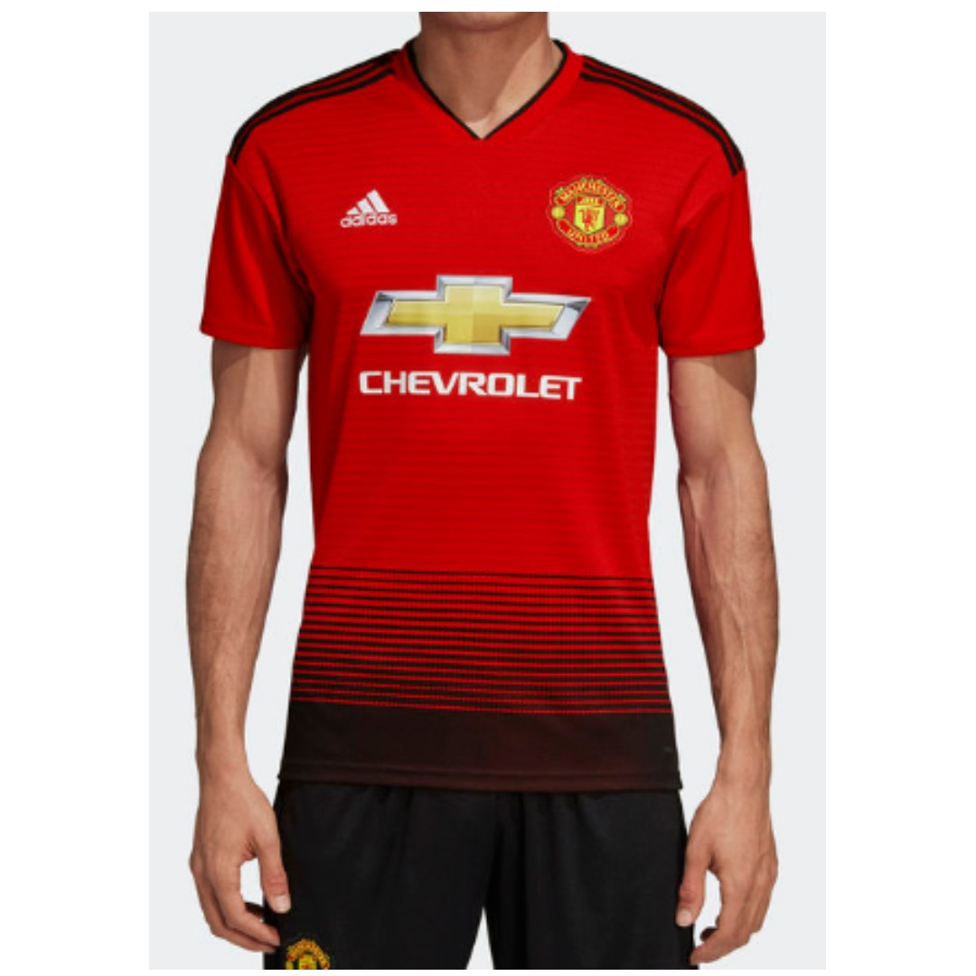 f5550a211c7 FLASH SALES] Adidas Manchester United Home Jersey, Sports, Sports ...