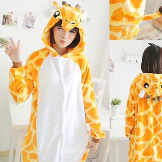 873651ea51cf Fleece Giraffe Onesie Kigurumi Pyjamas FOR KIDS