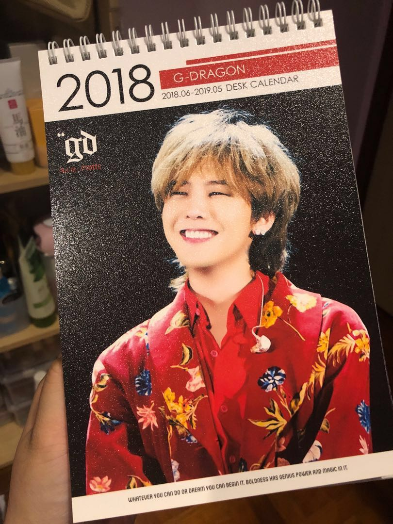 G Dragon 2020 Tour G dragon 2018 2019 2020 calendar, Entertainment, K Wave on Carousell
