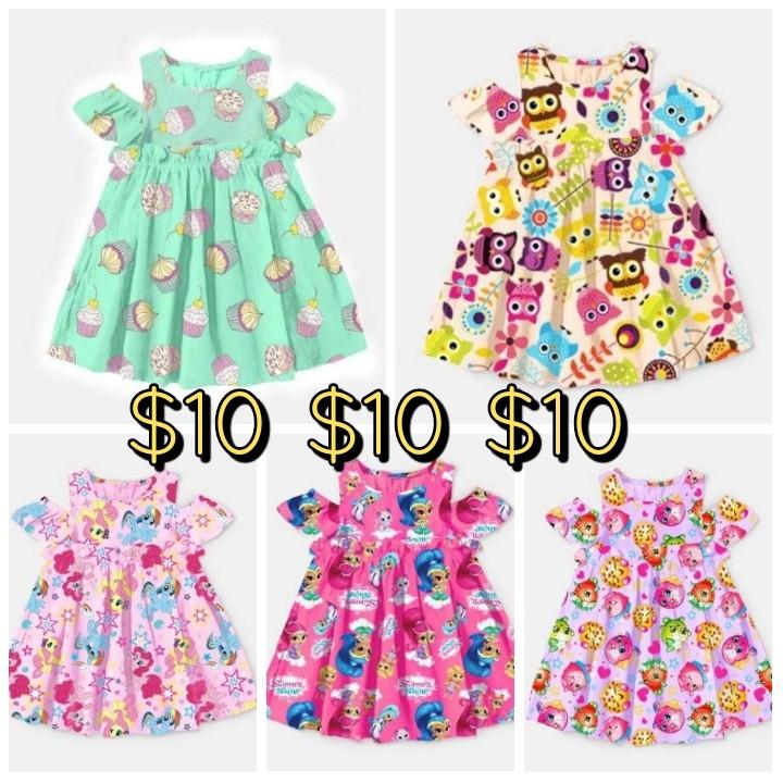 a5f43353b5a8 Girls Off Shoulder Dress, Babies & Kids, Girls' Apparel, 4 to 7 ...