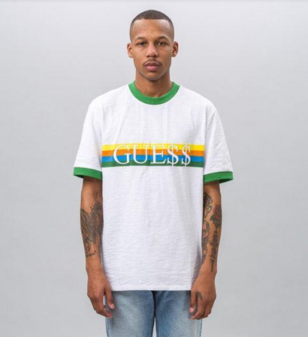 36b88d586da9 Guess x Asap rocky ringer tee, Men's Fashion, Clothes, Tops on Carousell