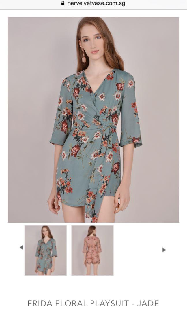 c77f5571747 HVV Frida Floral Jumpsuit Jade