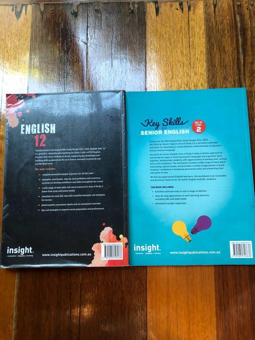 Insight English Year 12 and Key Skills for Senior English Textbooks