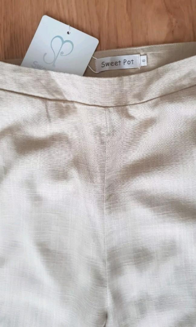 Linen Wide Leg Pants Sz 6