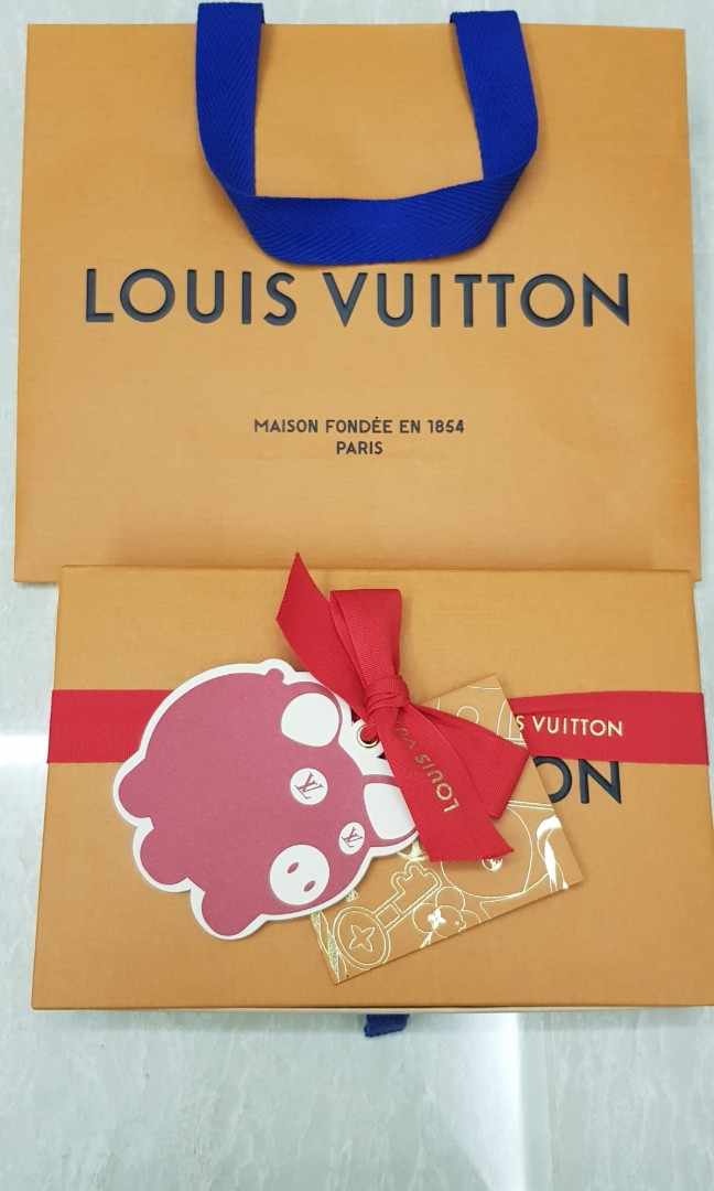 Louis Vuitton Paper Bag Box Set Limited Edition Pig Year Authentic