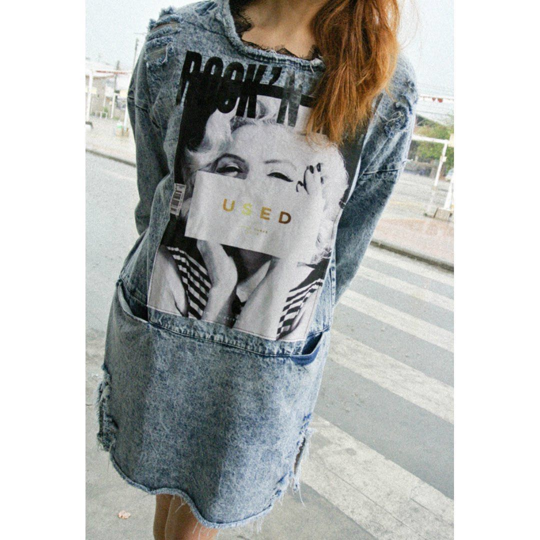 5bfe45403f Marilyn Monroe Denim Dress