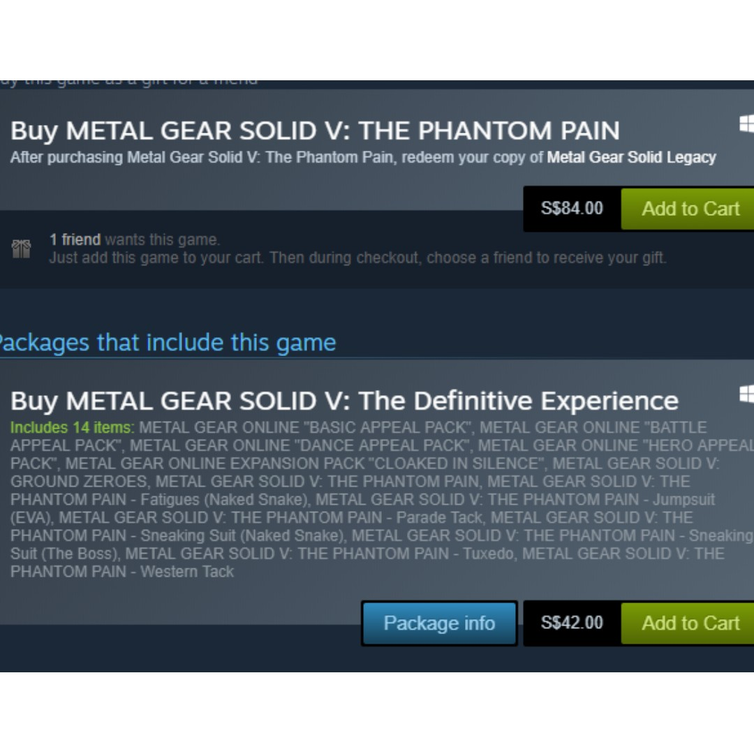 Metal Gear Solid V The Definitive Version(STEAM EDITION) (Cheap) (Steam  Codes)