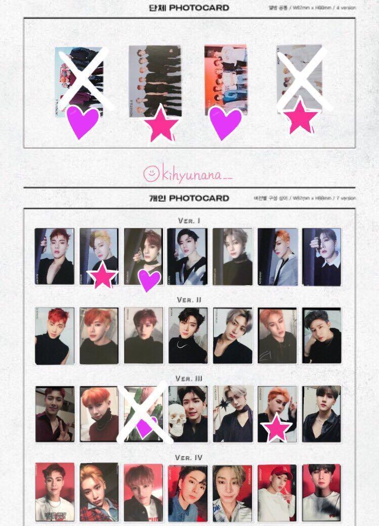 Monsta X Are You There Album Photocards, Entertainment, K