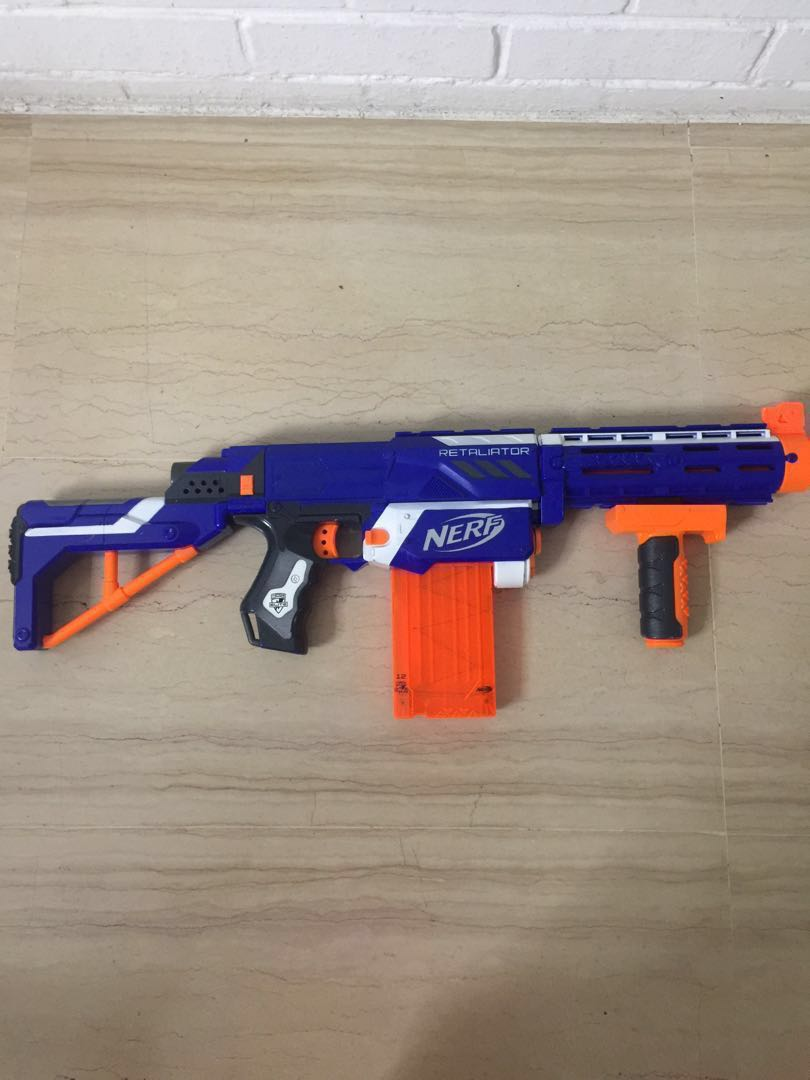 Nerf Retaliator With Bullets And Magazine Toys Games Others On