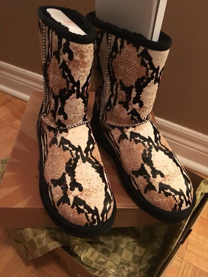 New Uggs rare reptile boots