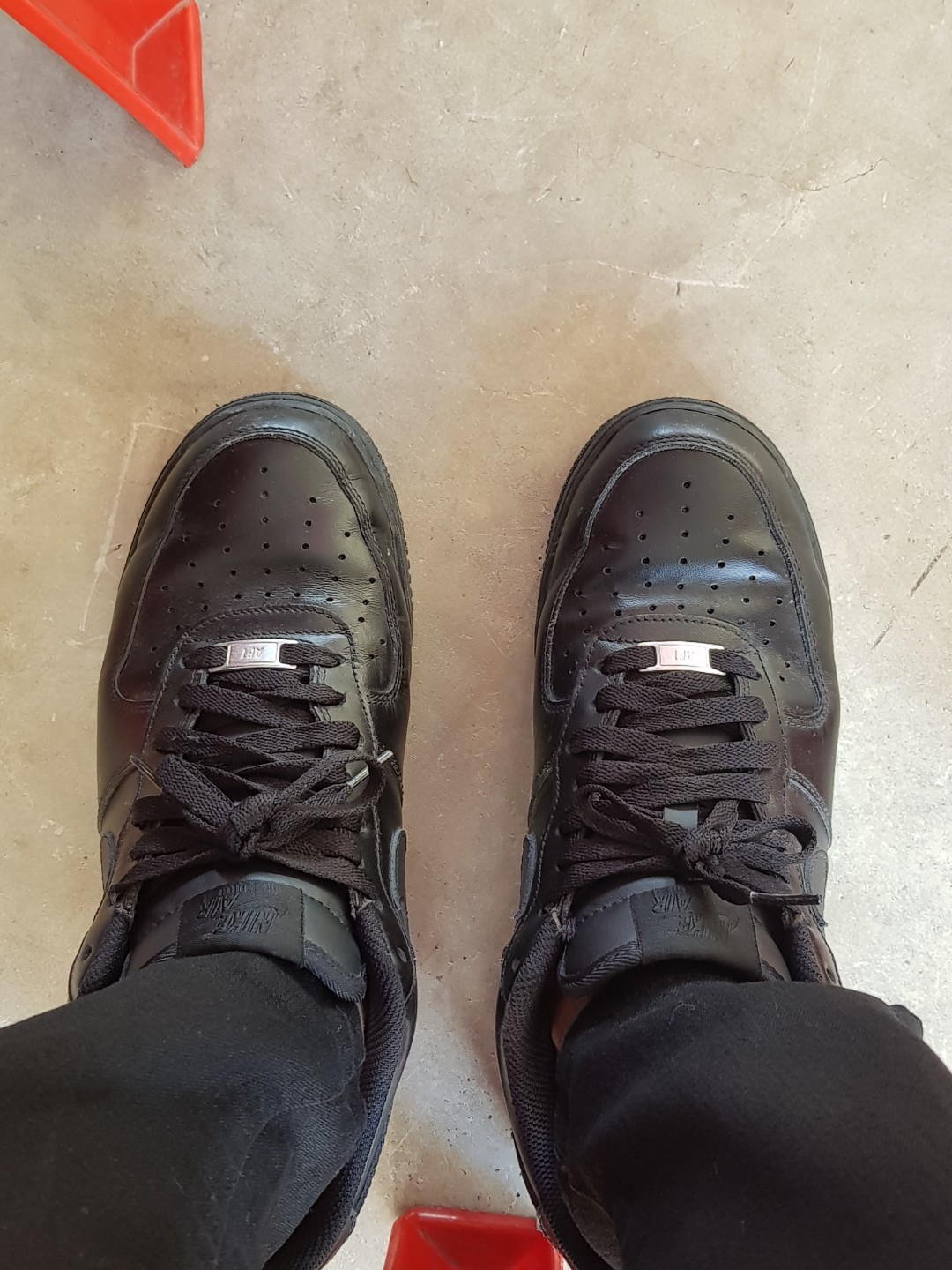 08e9f241311 Nike Air Force 1s Blacked Out, Men's Fashion, Footwear, Sneakers on ...