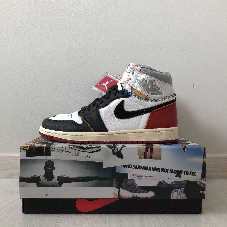"""new product b5e7c 2cbc2 Nike Air Jordan 1 x Union LA """" Black Toe """", Men's Fashion ..."""