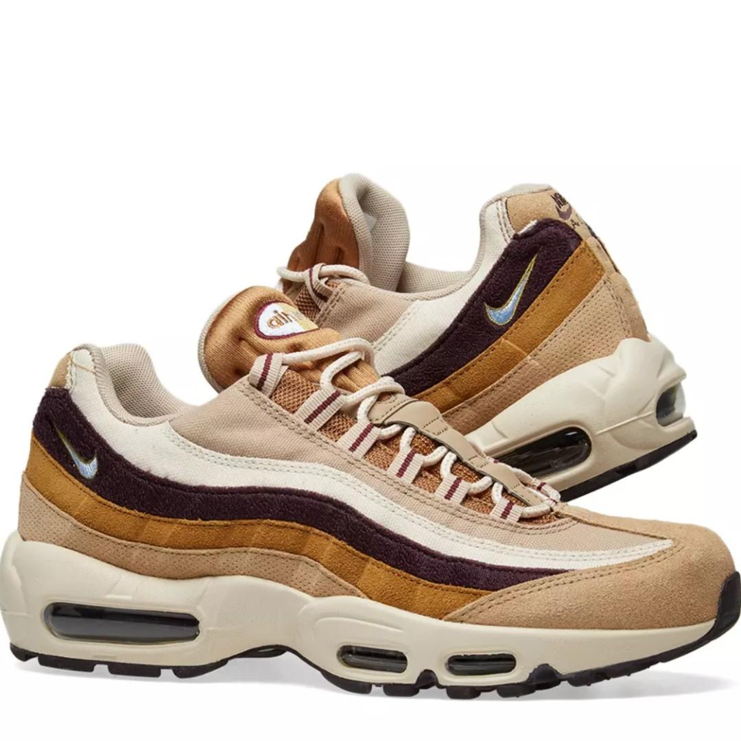 pretty nice d96bb 3ffa8 NIKE AIR MAX 95 PREMIUM DESERT, ROYAL & BURGUNDY, Men's ...