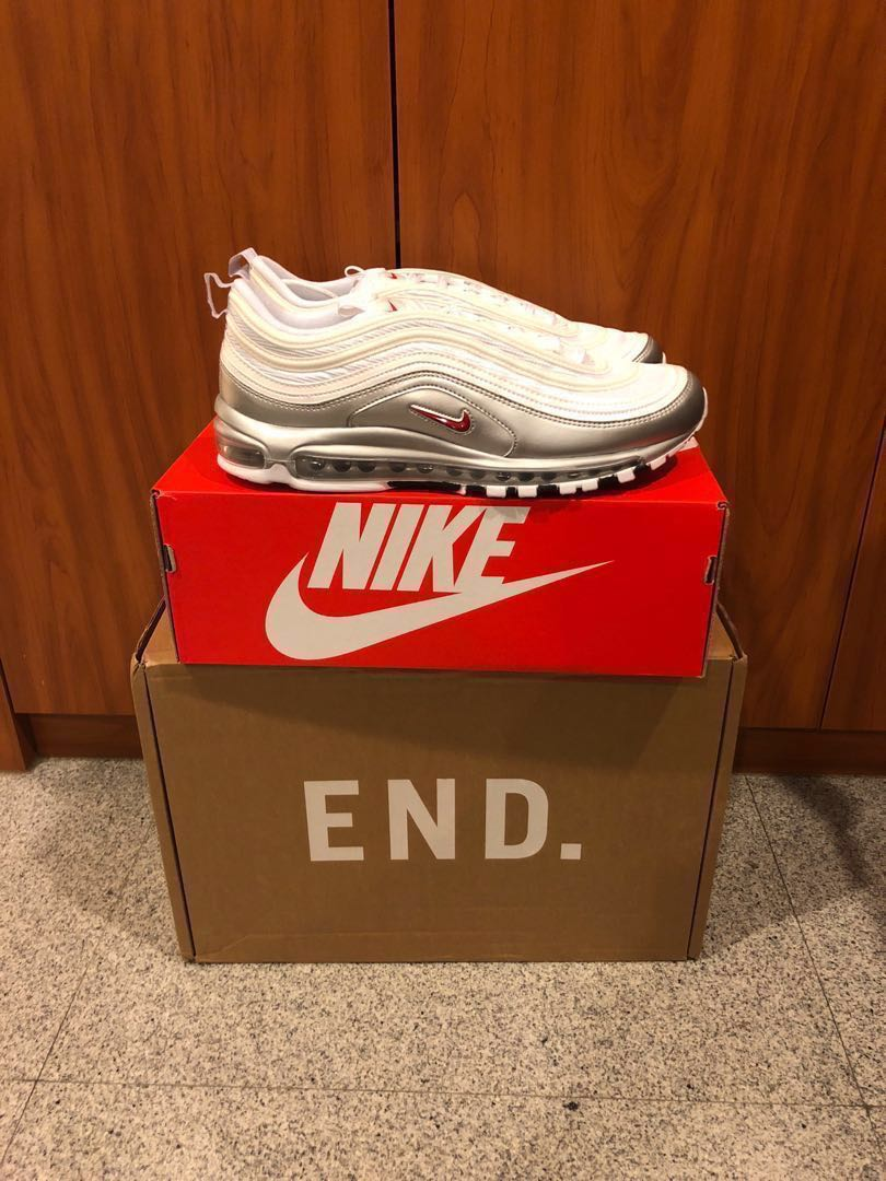 quality design fbc92 3aa82 Nike Air Max 97 QS Silver White, Mens Fashion, Footwear, Sneakers on  Carousell