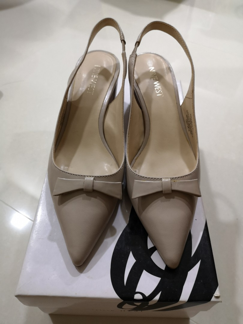 59bfd10ae3 Nine West Slingback Heels, Women's Fashion, Shoes, Heels on Carousell