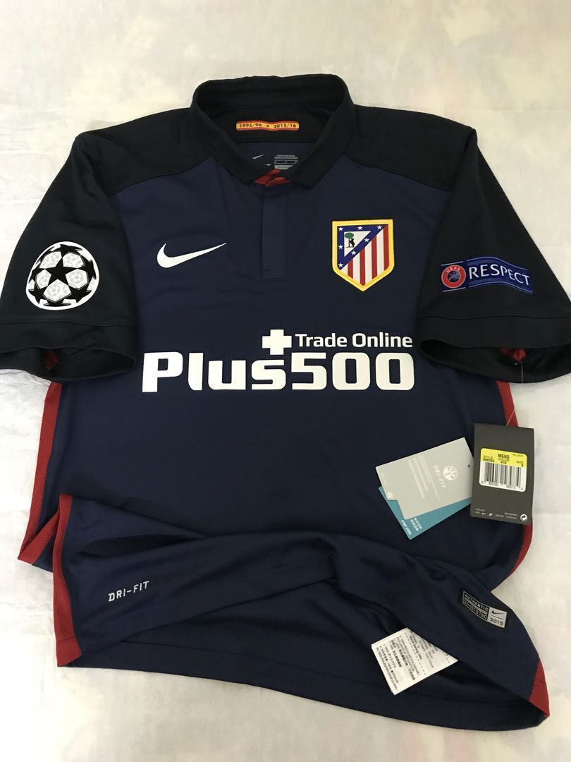 8ff83bb89 Official Authentic NIKE Atletico Madrid 2015-2016 Away Jersey GODÍN ...