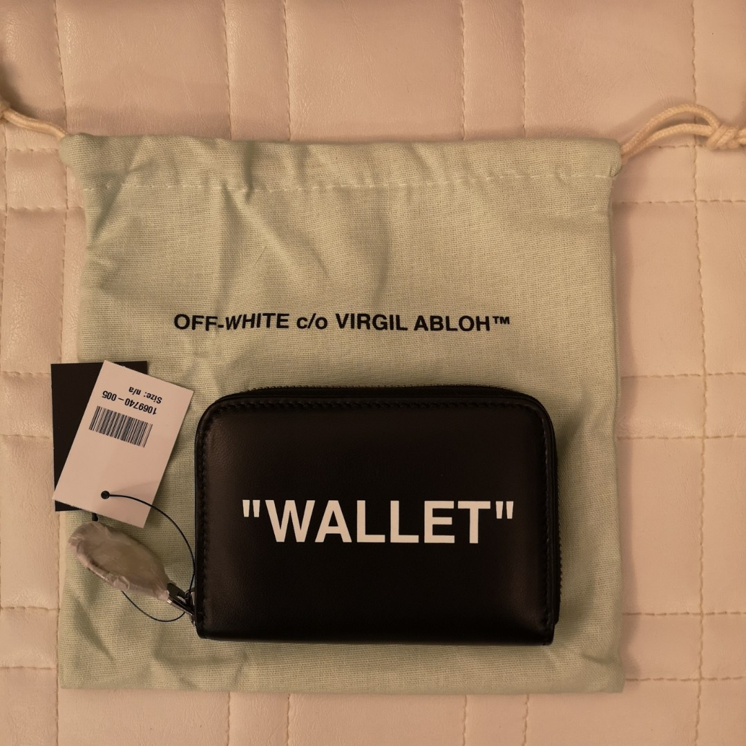 c0dc4973900f Off-White Medium Quote Leather Wallet