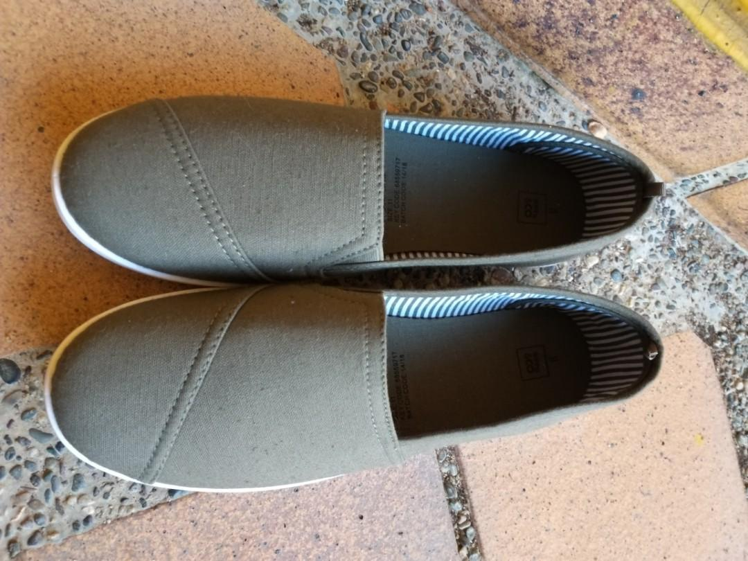 Olive & Black Covered Shoes *Brand New*
