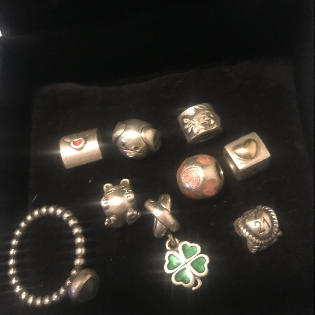 Pandora Charms and Ring