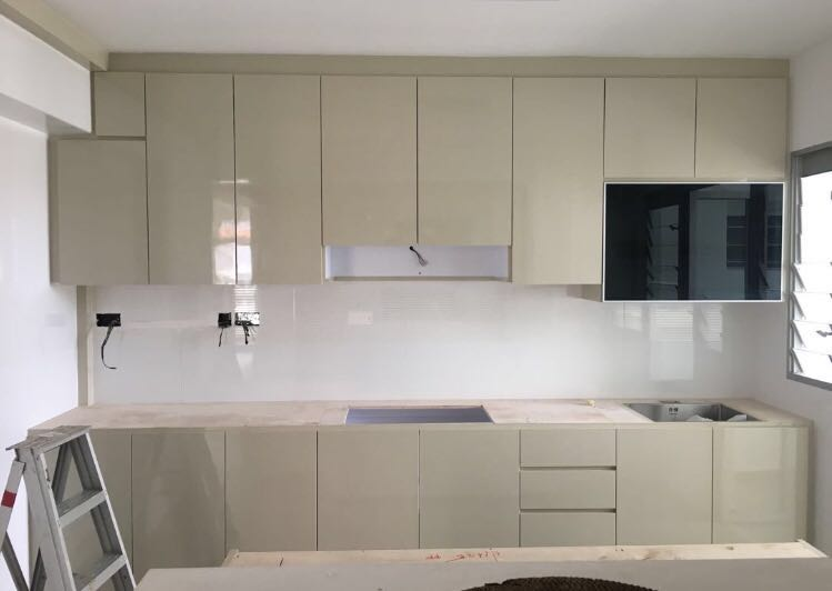 Peach Color Laminate Kitchen Cabinet Furniture Others On Carousell