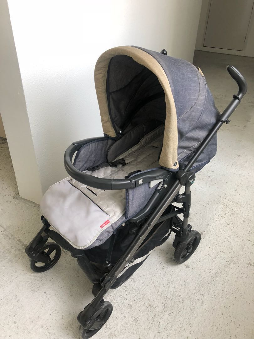 Peg Perego Switch Four Denim Babies Kids Strollers Bags