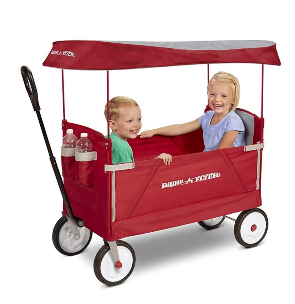 Po Bn Radio Flyer 3 In 1 Ez Folding Wagon With Canopy For Kids And