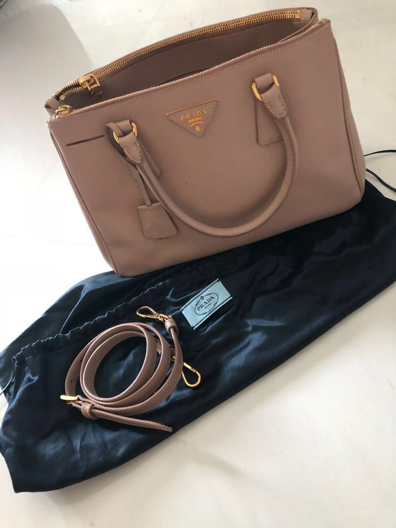 47165b06321e Prada Saffiano Lux Double Zip Bag