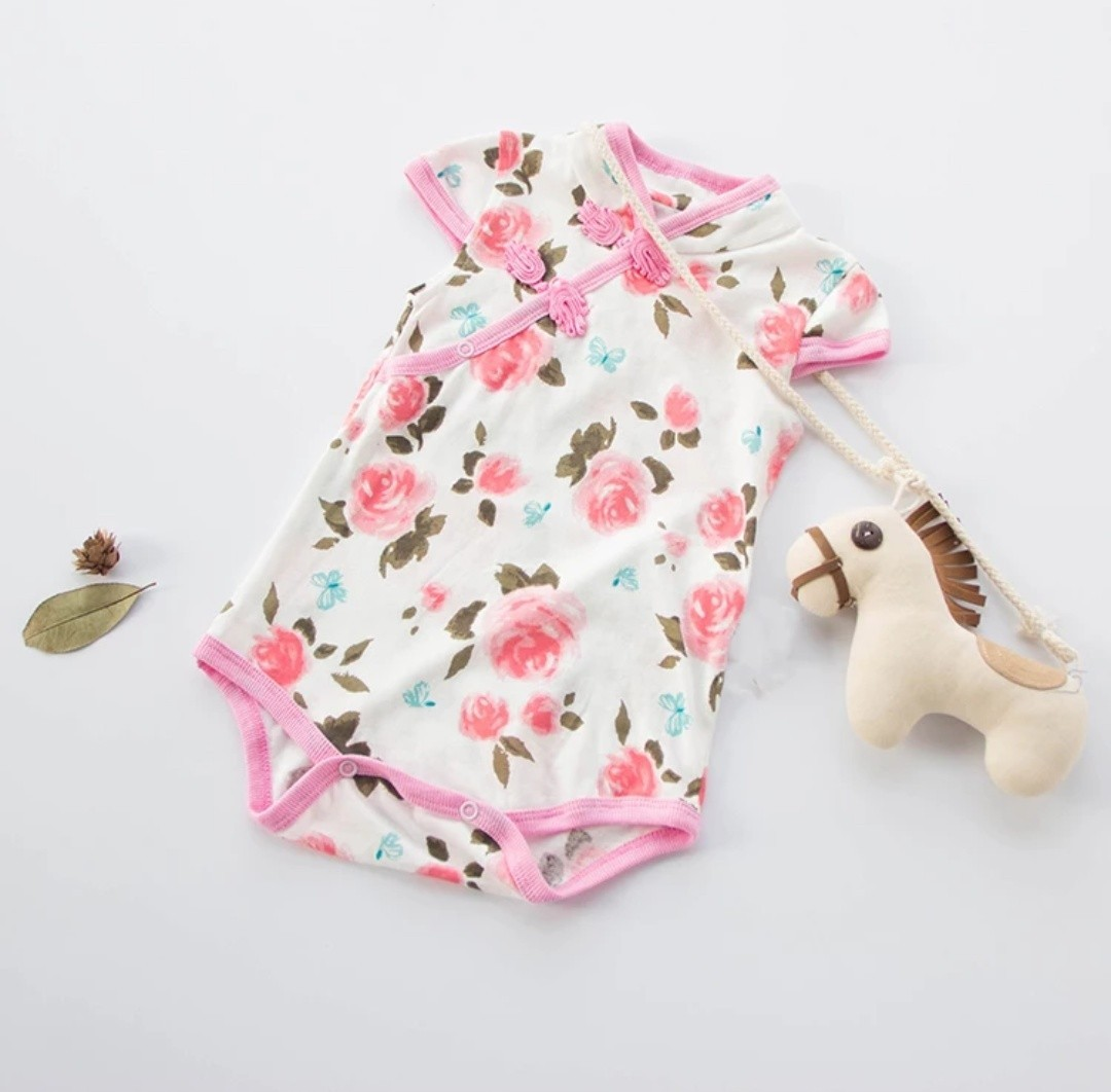472fbaf154f Pre-order  Baby Chinese New year romper cheongsam qipao clothes ...