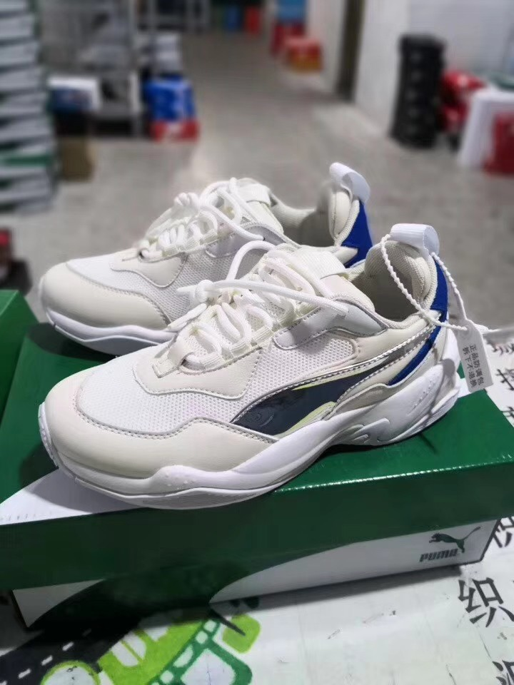 PO  Puma Thunder Electric Sneakers White Grey Blue cb6b00cb4