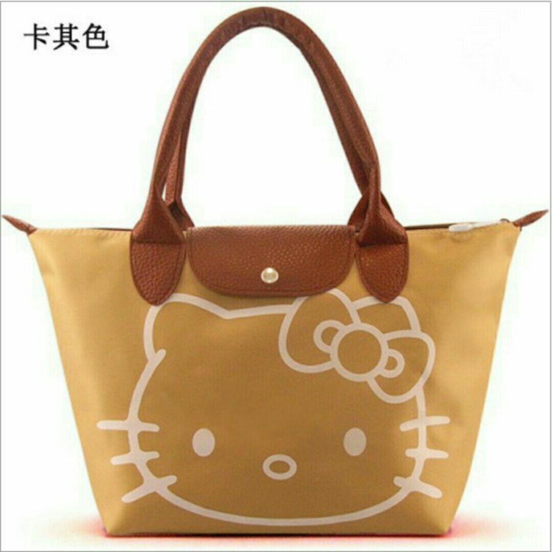e81bd6c176a0 RESTOCK (dengan penambahan warna baru) HELLO KITTY LONGCHAMP INSPIRED TOTE  BAG Ready Stock