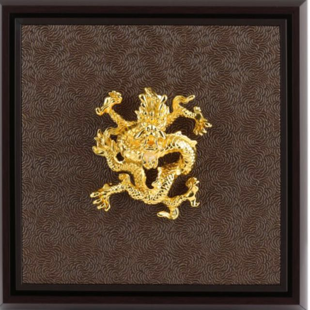 """b54371d5f5e Risis """"Dragon Majestic"""" 24k gold plated wall frame"""
