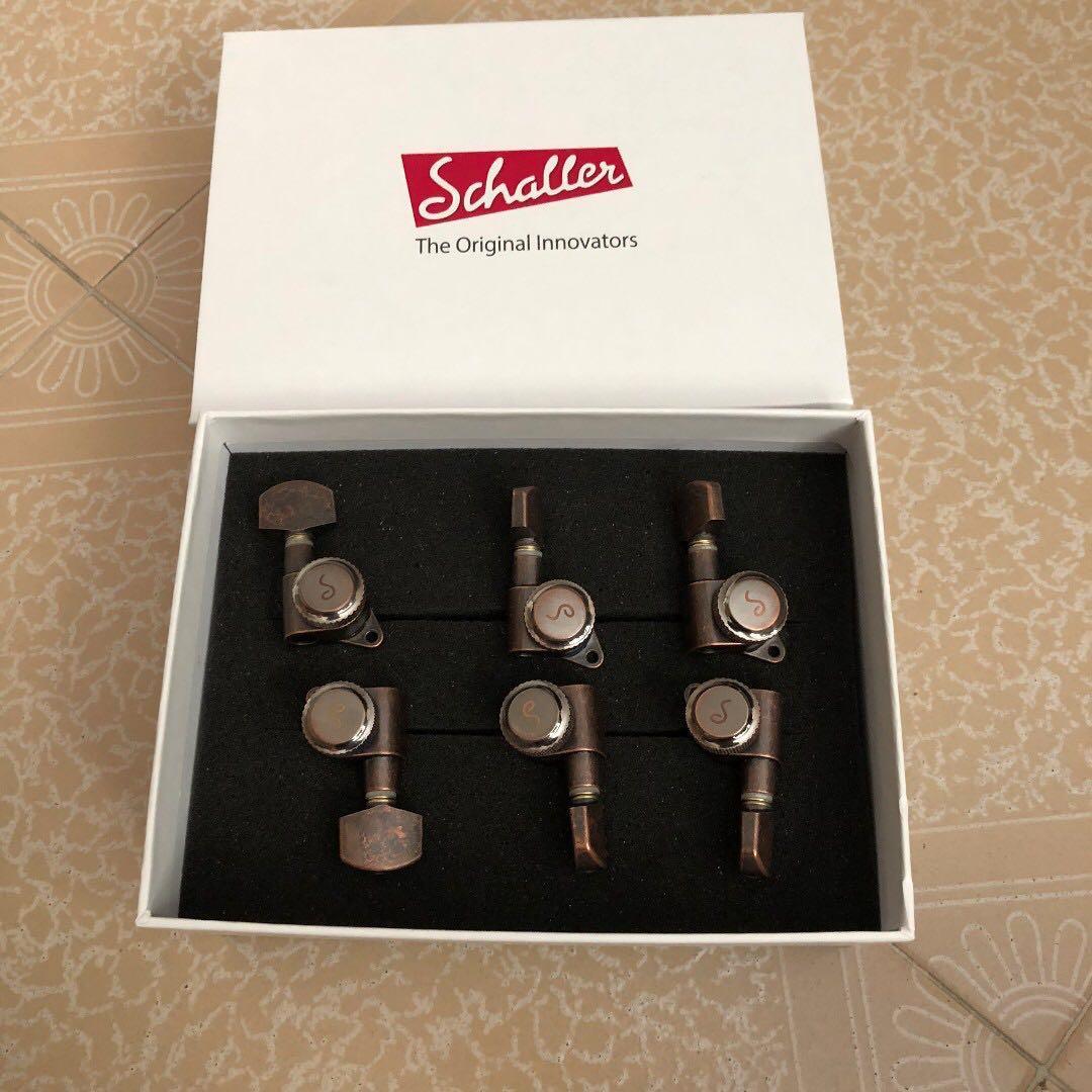 Schaller M6 135 Locking tuners (staggered)  6 inline