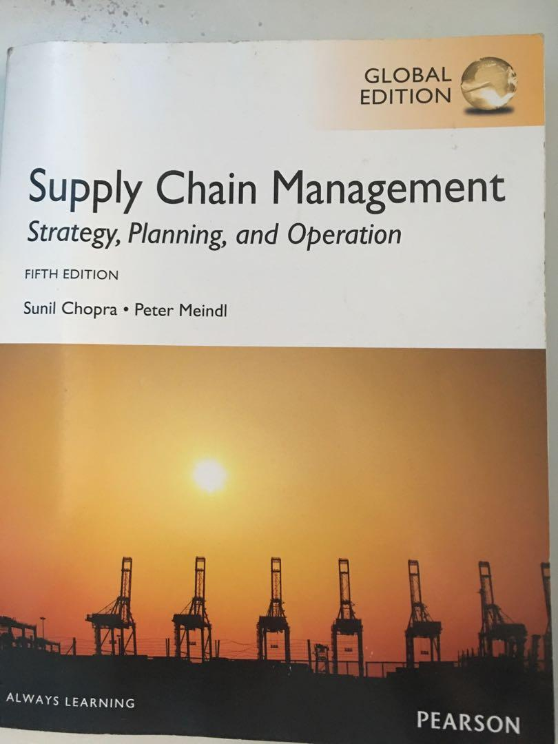 SMU supply chain course textbook  Supply chain management