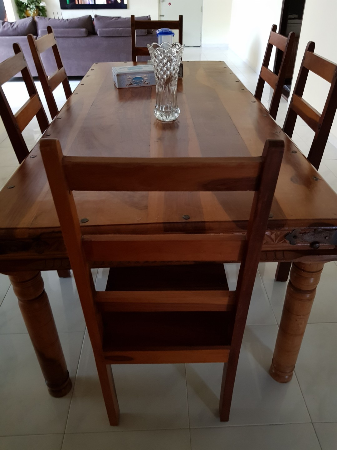306d09f76a3f Teak Wood Dining Table with 6 chairs