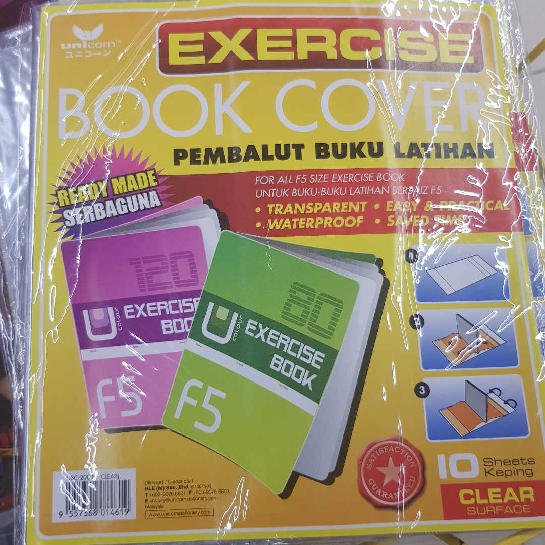Textbook and exercise book covers 10pcs,