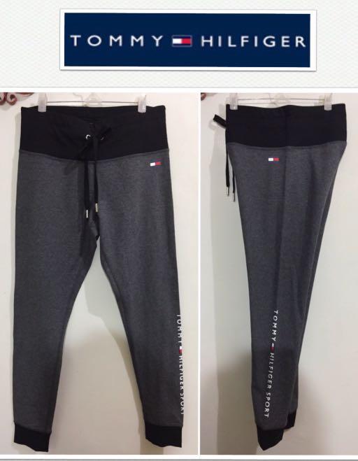 71f7d879 Tommy Hilfiger Sport Logo Drawstring Cuffed Gray Leggings, Sports ...