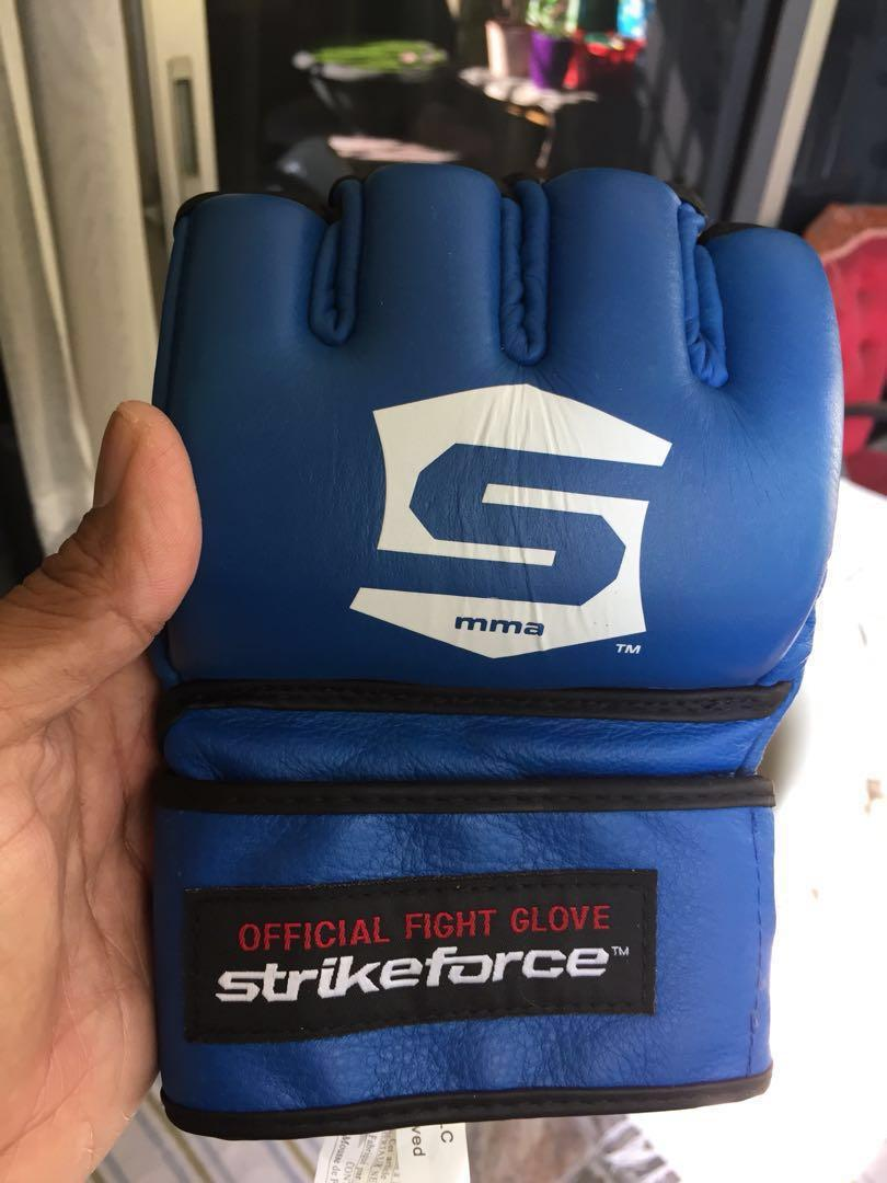 Official Strikeforce MMA Fight Gloves New Size XXL Blue